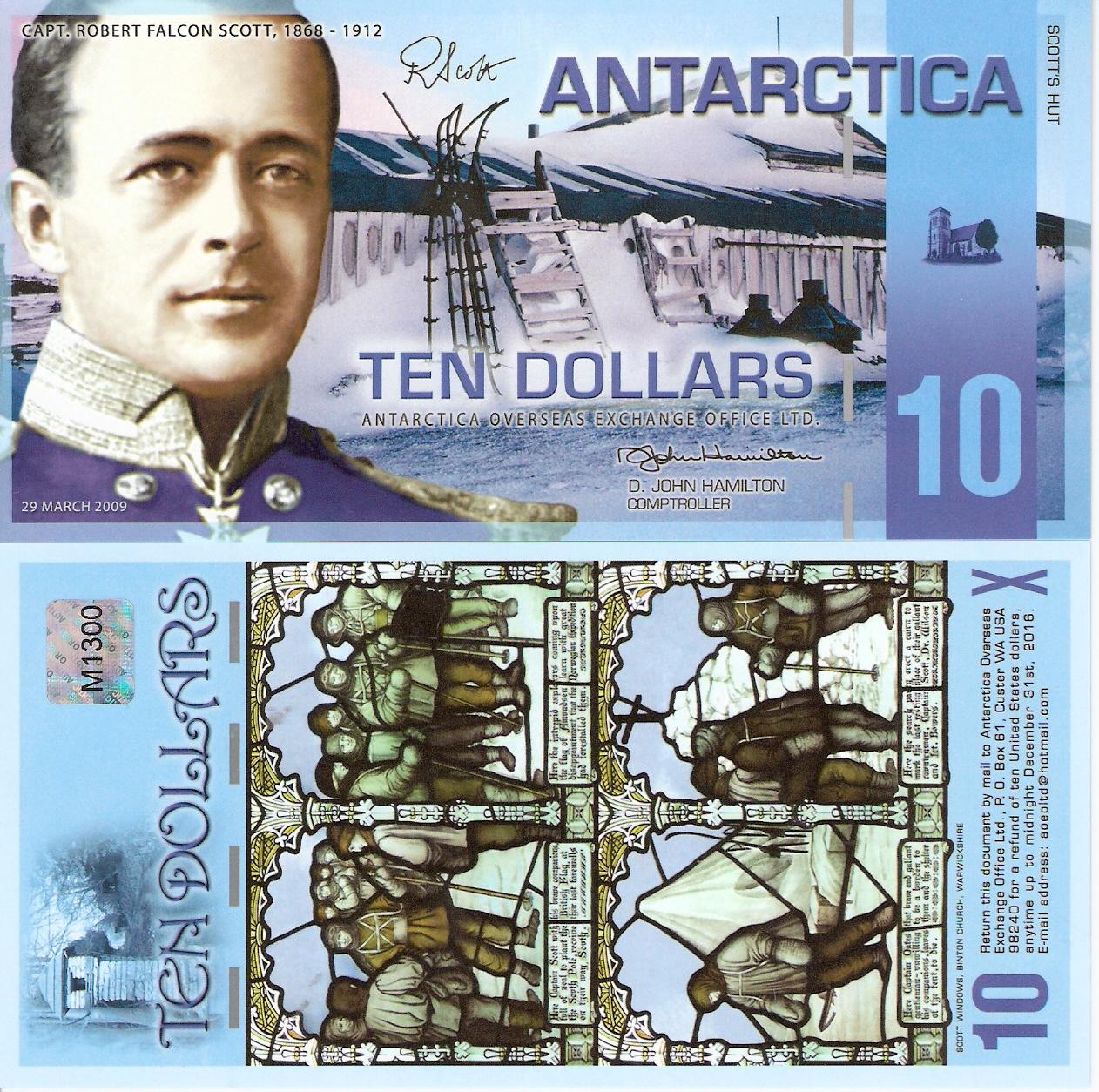ANTARCTICA 10 DOLLARS 2001 SPECIMEN UNC