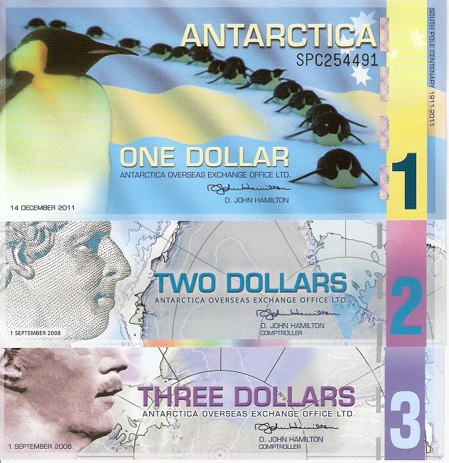 ANTARCTICA 1 DOLLAR 2007 POLYMER UNC