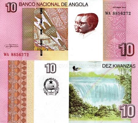 ANGOLA SET UNC 2012 9 items 5,10,50,100,200,500,1000,2000,5000 Kwanzas