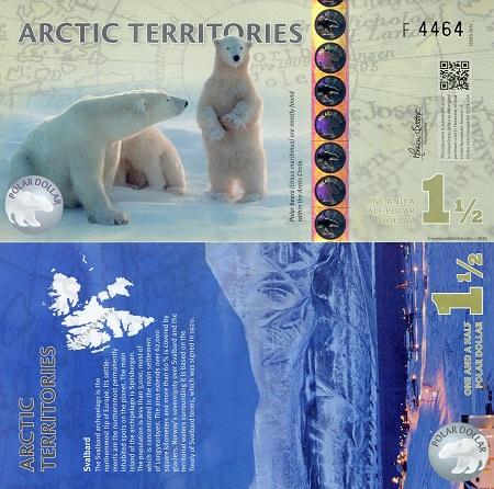 SET Polymer UNC 2012 $1;5;9 Arctic Territories