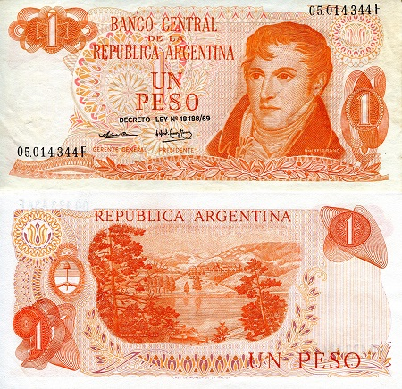 1 Peso  XF/VF (see large scan) Banknote