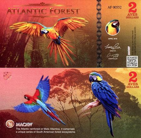 Royal Flycatcher Atlantic Forest 4 Aves Dollars 2015 Birds