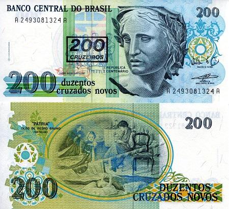 P-223 BRAZIL 50 Cruzeiros UNC World Currency 1990