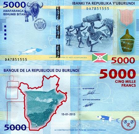BURUNDI 1000 Francs Banknote World Paper Money UNC Currency Pick p39d 2006 Bill
