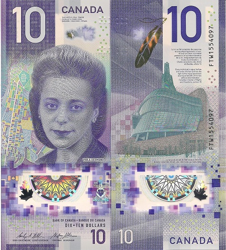 UNC Canada $20 2015 commemorative Queen/'s historic reign polymer Bank Notes