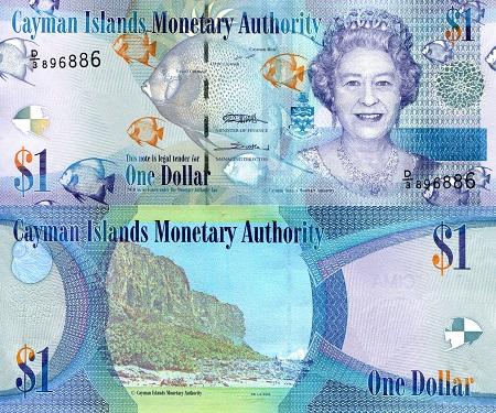 Cayman Islands 2010 $1 banknote uncirculated
