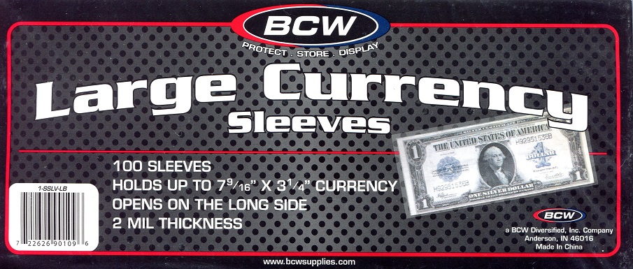 Crystaline Currency Holders LB 100 Pack   Banknote