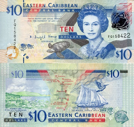 2008 Pick 47 Eastern East Caribbean $5 UNC