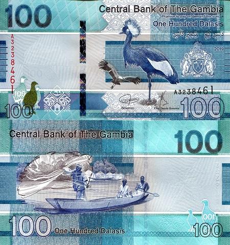 GAMBIA 10 Dalasi Banknote World Paper Money UNC Currency Pick p32 Bird Bill Note