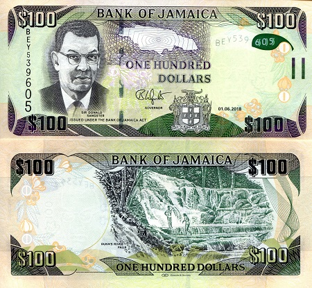 Jamaica Dollars Banknotes