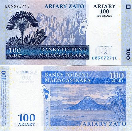 Madagascar 200 Ariary 2004 2016 P-New New Signature UNC