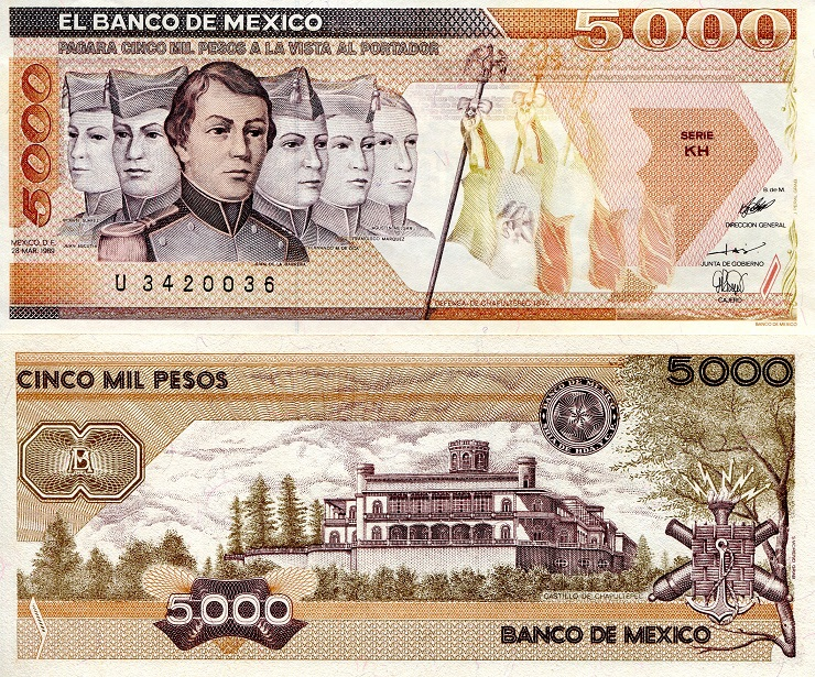 Mexico Pesos Banknotes