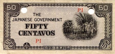 1942 PHILLIPINES 20 CENTAVOS EMERGENCY WARTIME BANKNOTE