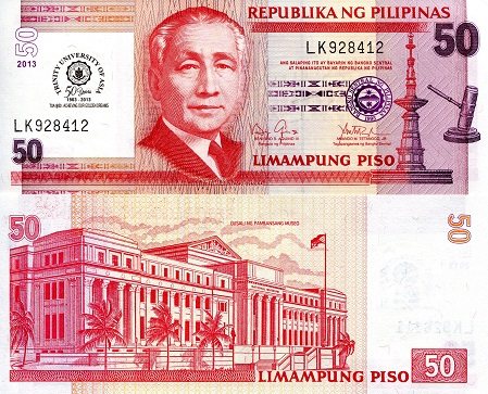 Philippines 10 Piso Banknote World Paper Money UNC Currency Bill Note