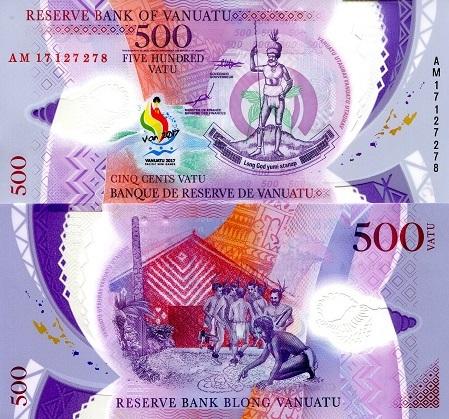 ND 2014 P-13 New Polymer Unc Vanuatu 1000 1,000 Vatu