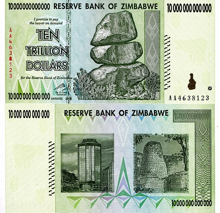 ZIMBABWE 500,000 DOLLARS 2008 INFLATION UNC BANKNOTE P-76 BUY FROM A USA SELLER