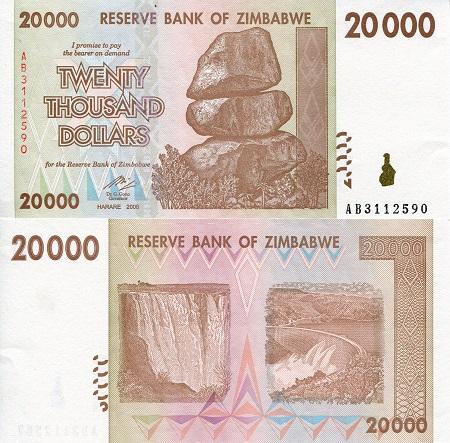 2003 P-12 UNC Zimbabwe 1000 Dollars