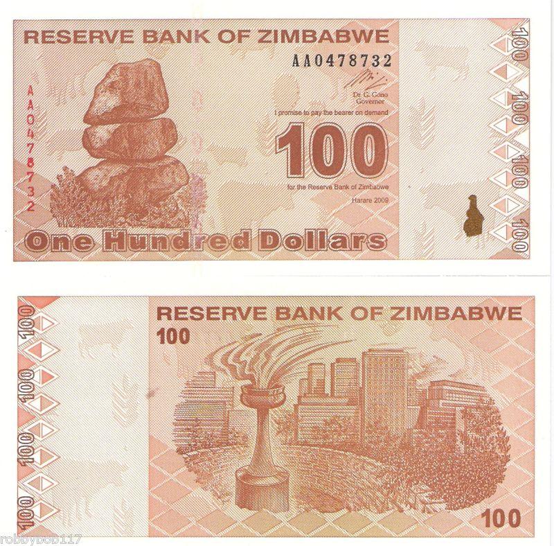 ZIMBABWE $5 DOLLARS 1997 P 5b UNC