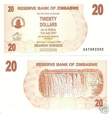 Zimbabwe P 35-10 Cents 2006 AA Prefix UNC